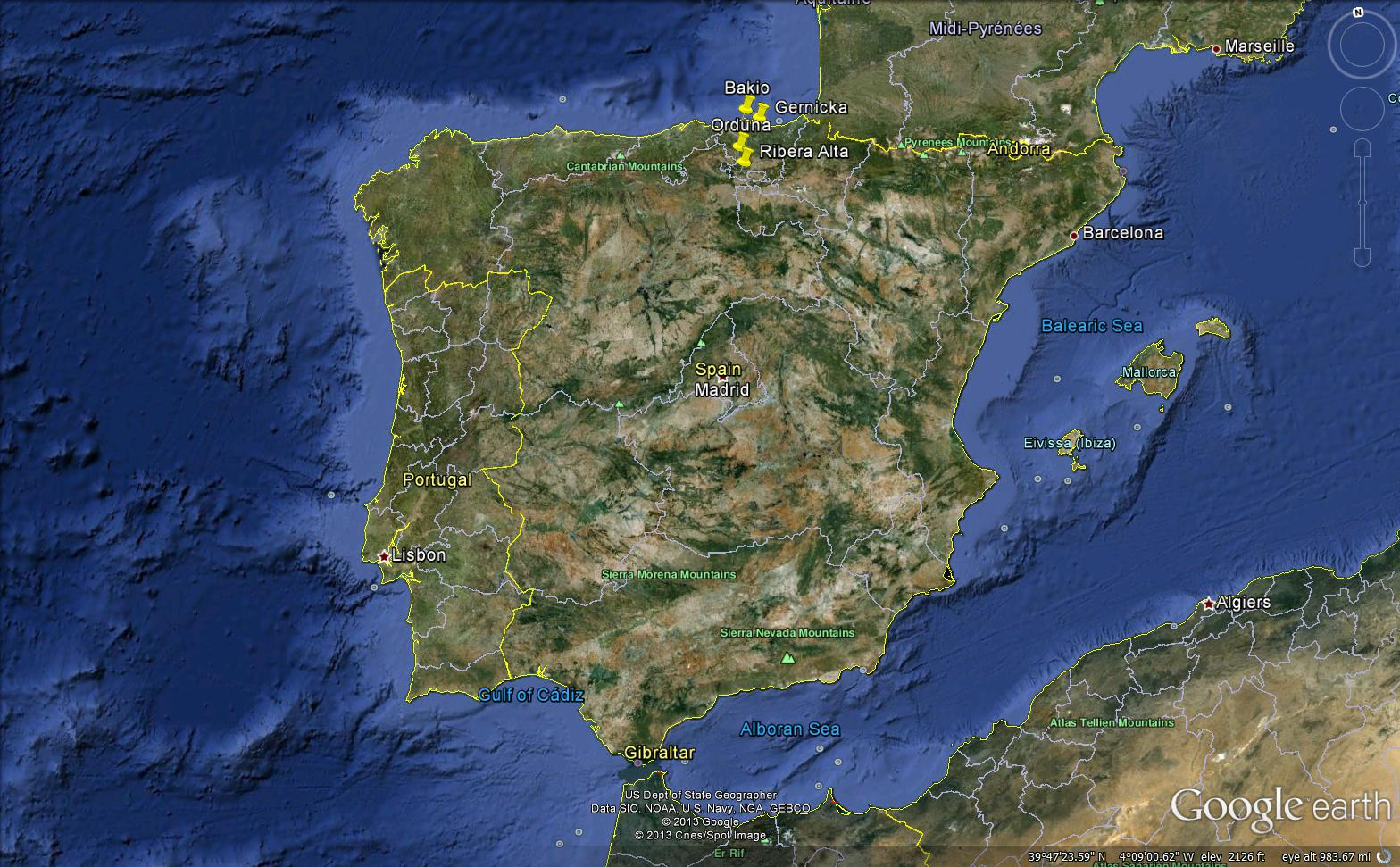 Google Earth Map Of Spain.Projects Spain