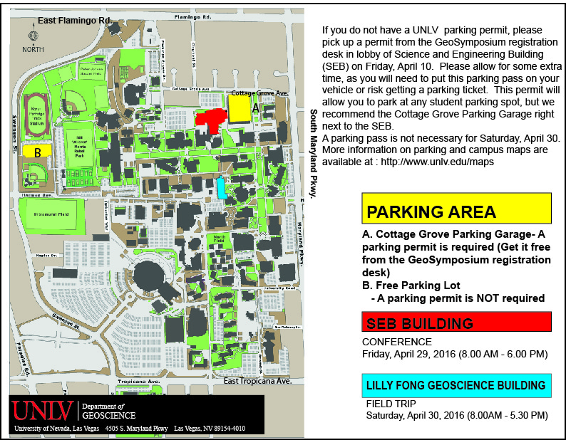 Unlv Campus Map Pdf.Geosymposium